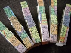 Clothes pins + map = cute  ~ perfect for those bridal shower games