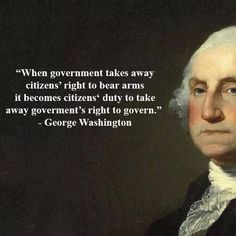When government takes away citizens' right to bear arms it becomes citizens' duty to take away government's right to govern. - George Washington