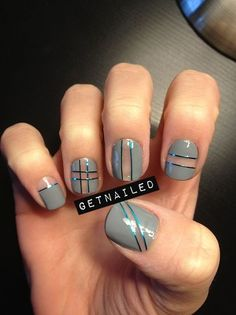 Negative space manicure. Amazing look.