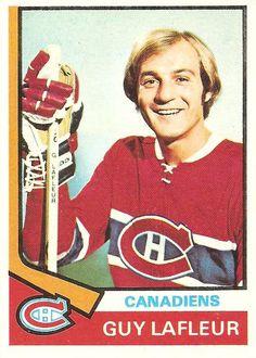 Topps - Guy Lafleur Canadiens de Montréal Go Habs Go ! Montreal Canadiens, Hockey Cards, Baseball Cards, Nhl, Canada Hockey, Hockey Pictures, O Canada, Sports Figures, National Hockey League