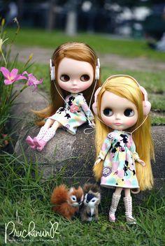 Lusary and Celena (Neo Blythe Hello Harvest , Neo Blythe Doronjo x Blythe)