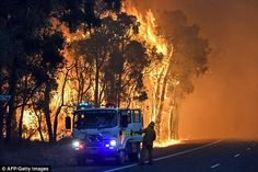 The blaze - which has burnt through 58,000 hectares of land - is now moving in a southwesterly direction towards Shires of Waroona and Harvey