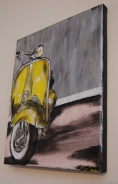 Check out this item in my Etsy shop https://www.etsy.com/listing/224561747/original-painting-sunny-vespa