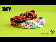 Braided Square Knot Bracelet Tutorial [DIY] - YouTube
