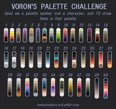 Hottest Images Color Palette challenge Popular Regardless of whether you are a inexperienced or maybe an old hands guidelines for colour is usuall Palette Art, Colour Pallette, Color Palate, Colour Schemes, Drawing Challenge, Art Challenge, Color Palette Challenge, Art Prompts, Colour Board