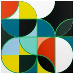Academia Militar [Rio]  2013 Household gloss on canvas 214 cm x 214 cm Sarah Morris  painting White Cube