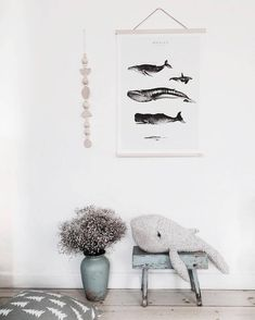 We feel as real sailors looking at these kids rooms inspired by the sea.Kids imagination will be focused on sea stories if we choose this theme for this childrens room. Nautical Nursery, Nursery Neutral, Nursery Decor, Whale Nursery, Bedroom Decor, Bedroom Lighting, Bedroom Wall, Nursery Ideas, Inspiration For Kids