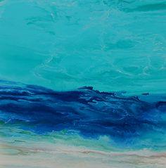 "Royal Wave VIII by Kimberly Conrad Acrylic ~ 24"" x 24"""