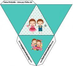 Caixa Pirâmide João e Maria Azul Tiffany: