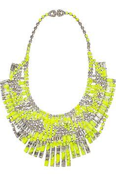 Tom Binns Slap Dash Swarovski crystal bib necklace - I adore neon jewelry