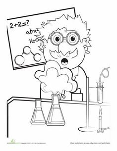Mad scientist ~ School decoration for Science Lab Door