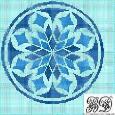 Sul Blog Bdcouture è disponibile lo schema di ricamo di un rosone stilizzato da realizzare a punto croce. Il disegno è utile per decorare la parte centrale di una tovaglia da tavola.