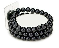 Floral Corsage Bracelet - Black  Pearls - Avery Collection