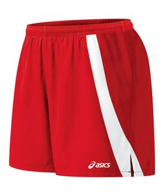 Take a look at this Red & White Intensity Shorts - Women by ASICS on #zulily today!