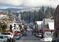 Nevada City in the winter.  Photo from the Emma Nevada Inn, one of the sweetest B's in town!