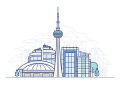 Toronto designed by Meg for Shopify. Connect with them on Dribbble; Travel Illustration, Landscape Illustration, City Skyline Art, City Logo, Skyline Silhouette, Line Design, Flat Design, Best Icons, Instagram Highlight Icons