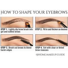"""How to shape your eyebrows @home.makeup.guide"""