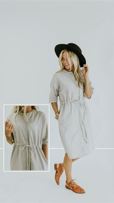 Drawstring dress - ROOLEE