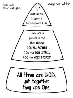 printable trinity craft for kids...for teaching the holy