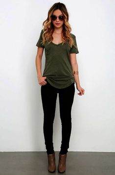 c99035020584 Not only will the Z Supply Pleasant Surprise Olive Green Tee put a smile on  your face, it ll also show off your fabulous style sense!