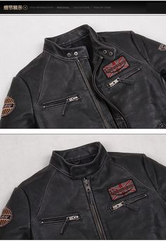 2ef2961a843 Asian size Motorcycle rider leather jacket