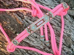 Beaded Rope Halter, Horse Tack , Horse Halter, Custom Tack, hand beaded halter on Etsy, $69.00