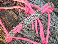 Beaded Rope Halter, Horse Tack , Horse Halter, Custom Tack, hand beaded halter on Etsy, $69.00