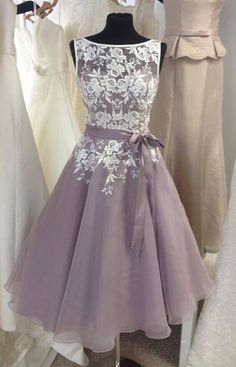 Short Bridesmaid Dress, Lace Bridesmaid Dress, Lace Prom