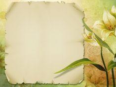 Floral Paper Frame Design Background Wallpaper