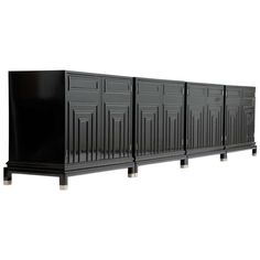 A Set of 4 Renzo Rutili Cabinets for Johnston Furniture Company | From a unique collection of antique and modern credenzas at http://www.1stdibs.com/furniture/storage-case-pieces/credenzas/