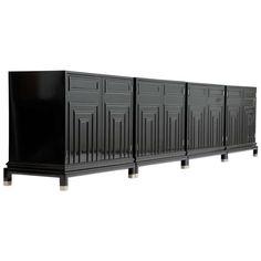 A Set of 4 Renzo Rutili Cabinets for Johnston Furniture Company