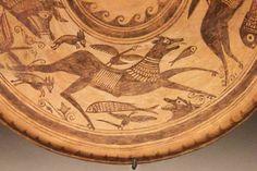 Cerámica de Ilici. Cuenco con representaciones de animales. S. II-I ane. La Alcudia (Elche)