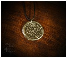 Cats celtic knot silver pendant by MissNebel on Etsy