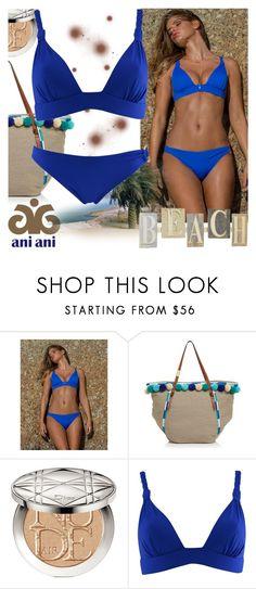 """Ani Ani"" by gaby-mil ❤ liked on Polyvore featuring Foley + Corinna, Christian Dior, swimwear, beachwear, resortwear, luxury and aniani"