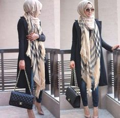 burberry scarf hijab style, Hijab looks by Sincerely Maryam… Hijab Casual, Women's Casual, Muslim Dress, Hijab Dress, Swag Dress, Islamic Fashion, Muslim Fashion, Emo Fashion, Modest Fashion