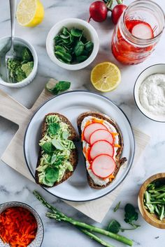 Spring Sandwiches with Sunflower Cream 'Cheese'