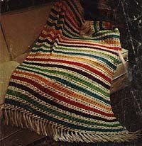 The Basic Broomstick Lace Afghan has great free #crochet afghan directions that you'll enjoy following.