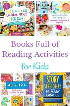 Books full of reading activities for kids perfect for bringing books to life or infusing more reading fun into your day.
