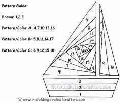 iris folding free patterns   Iris Folding @ CircleOfCrafters.com: Free Sailboat Pattern
