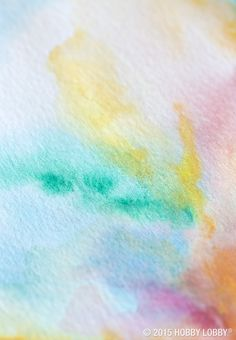 Watercolor tips and tricks: Try outlining your design with colored pencil instead of graphite - regular pencil can be hard to erase under watercolor.