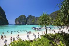 The daily hordes of tourists have exhausted the Thai beach made famous by the Leonardo DiCaprio movie.Maya Bay, on Phi Phi Leh island in the Andaman Sea, will be closed to all visitors for four months annually starting this June to allow for the. Thailand Tourism, Thailand Travel, Krabi Thailand, Maya Bay, Eyes Closed, Khao Lak Beach, Lamai Beach, Karon Beach, Thailand Adventure