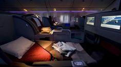 Aprimeira classe das linhas aéreas doCatar tem ascamas eoscobertores mais confortáveis domundo.