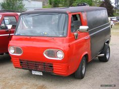 vintagered  Ford Econoline Van