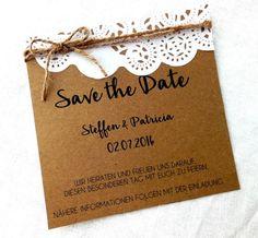 Save+the+Date,+Vintage,+Hochzeit++von+Herzenskind++auf+DaWanda.com