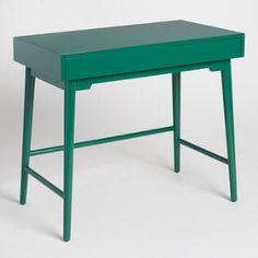 Emerald Green Wood Zola Desk