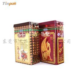 embossed metal tea tin case manufacturers size:94*56*155mm http:www.tinpak.com skype:tinpak05 email:sales5@tinpak.com