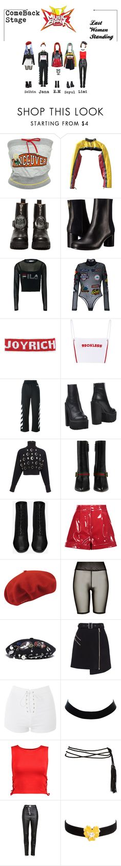"""""""LWS/ Comeback Stage/MB"""" by lws-official ❤ liked on Polyvore featuring D&G, Jean-Paul Gaultier, UNIF, Paul Smith, Fila, GCDS, Off-White, Jeffrey Campbell, David Koma and Gucci"""