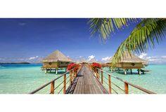 InterContinental Bora Bora Le Moana Resort Moana, Intercontinental Bora Bora, France, Tahiti, Long Beach, Outdoor Decor, Beautiful, French Resources