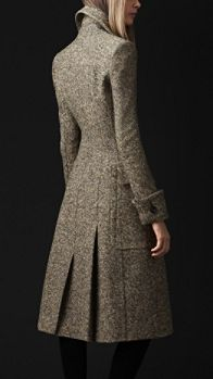 Burberry - WOOL SILK TWEED GREATCOAT - utterly elegant but unreachably expensive!