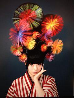 Kyary Pamyu Pamyu きゃりーぱみゅぱみゅ New Hair Style: Japanesque Fireworks